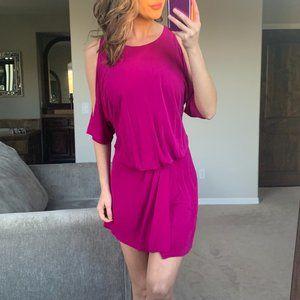 Jay Godfrey Fuchsia Pink Cold Shoulder Dress 4